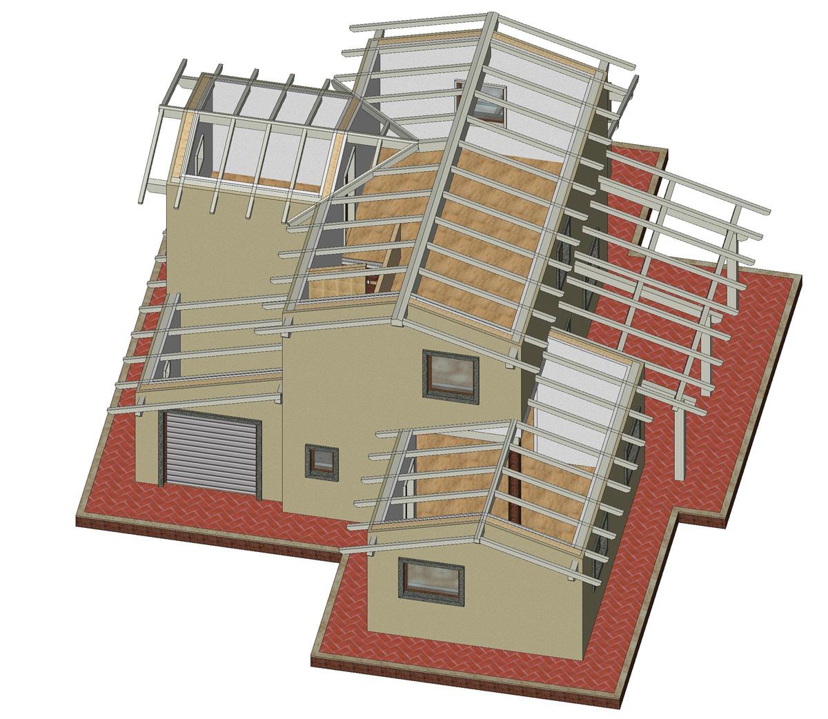 Tettoia in legno dwg ox37 regardsdefemmes for Moderne case a telaio