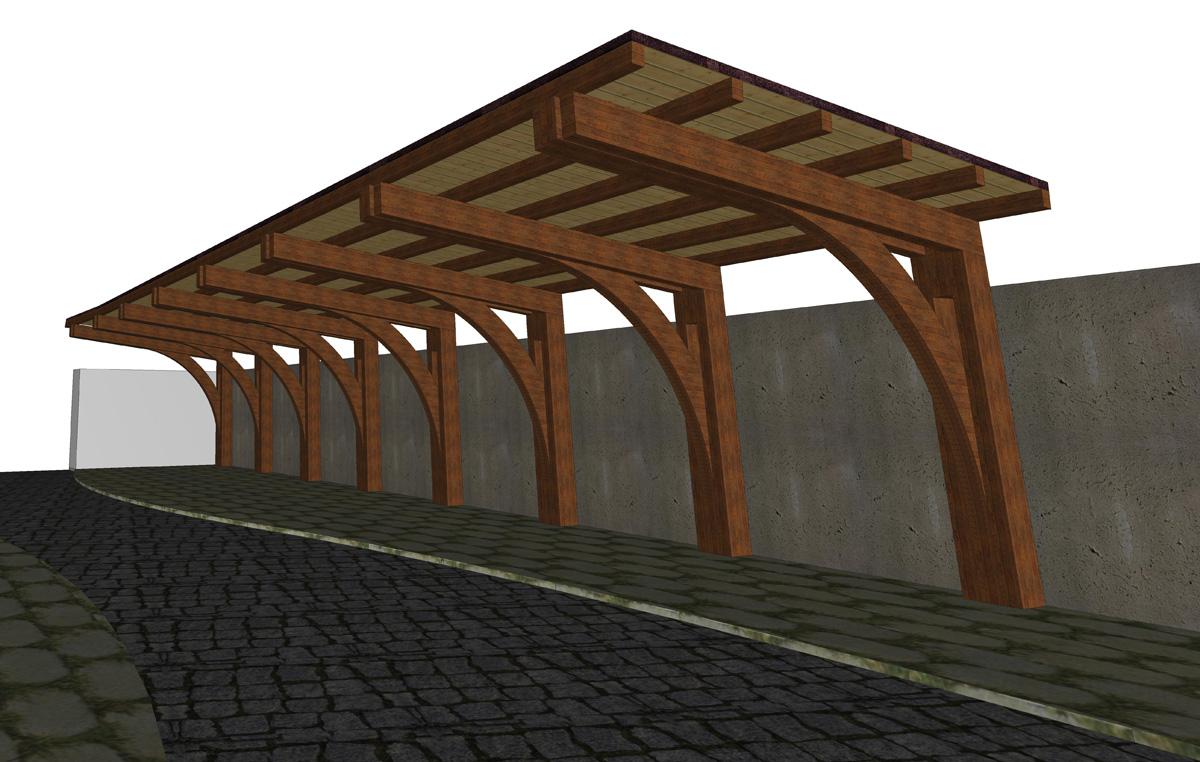 Esempio 04 for Tettoia in legno dwg